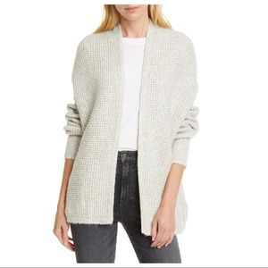 NEW Line Gray Waffle Knit Open Front Cardigan